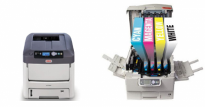 Printer met CMYK en Wit